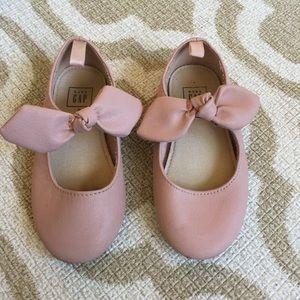 ✴️4/$15 GAP toddler pink bow ballet flats 8